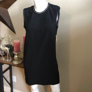 NWT Sz M Rachel Roy Black sleeveless shift dress